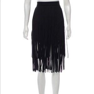 MOTHER Fringe Benefits Fringe Skirt